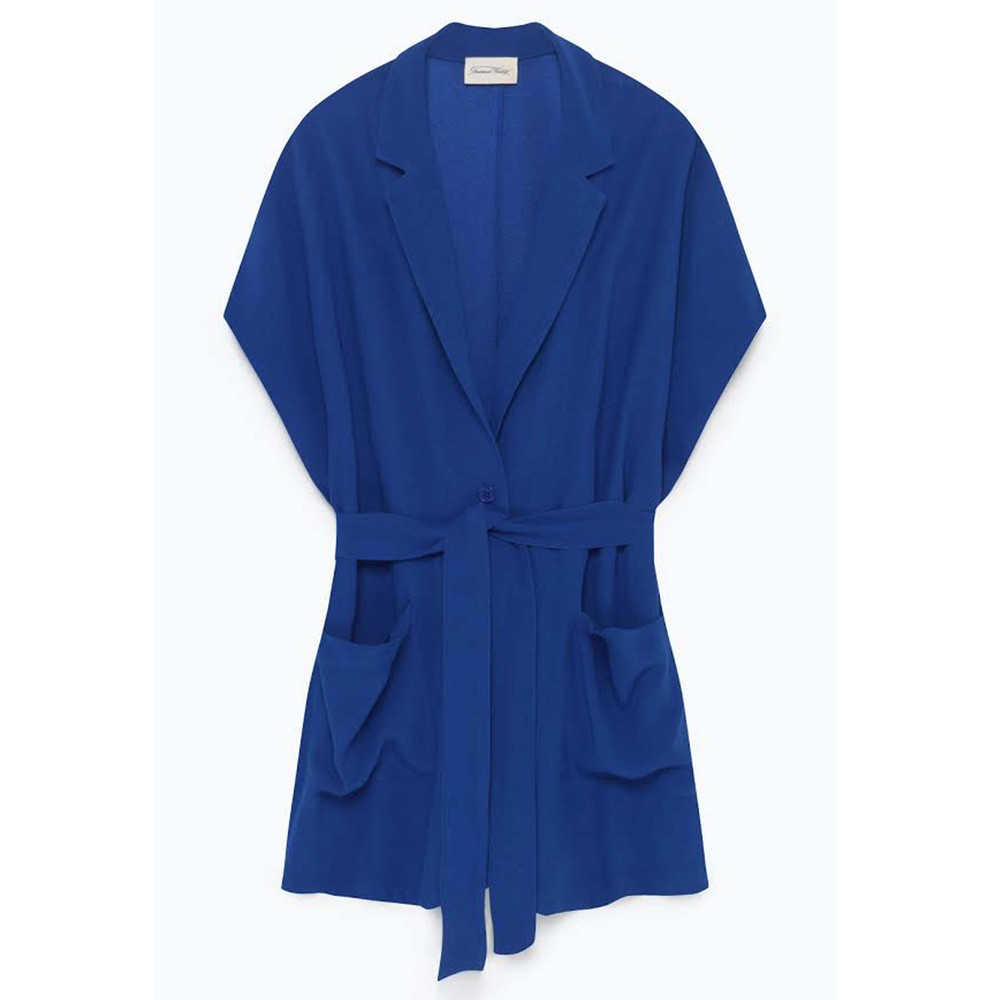 Holiester Sleeveless Blazer - Cobalt Blue