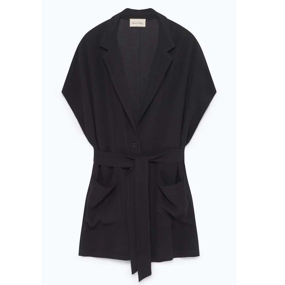 Holiester Sleeveless Blazer - Black