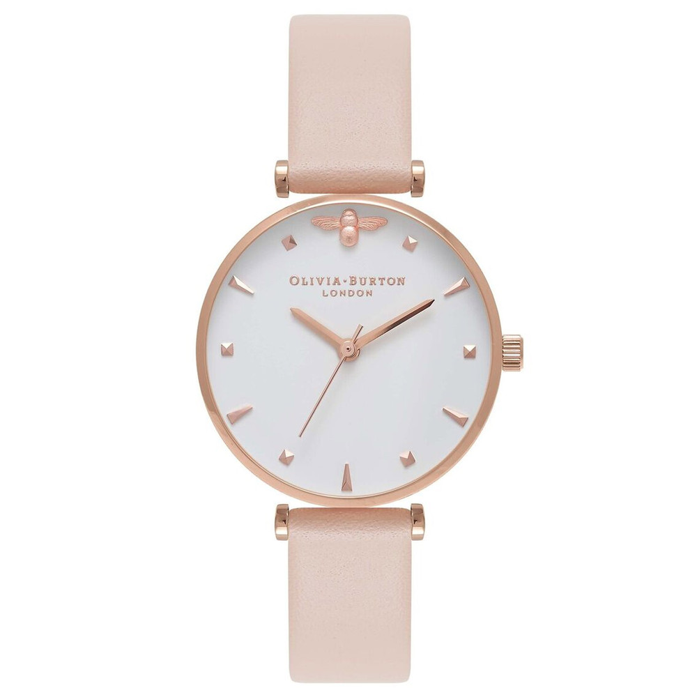 Queen Bee T-Bar Watch - Nude Peach & Rose Gold