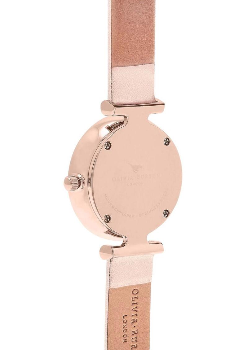 Olivia Burton Queen Bee T-Bar Watch - Nude Peach & Rose Gold main image