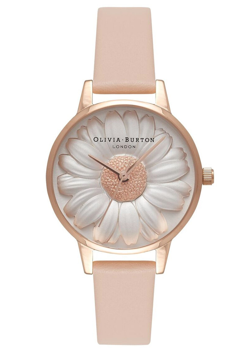 Olivia Burton Flower Show 3D Daisy Watch - Nude Peach & Rose Gold main image