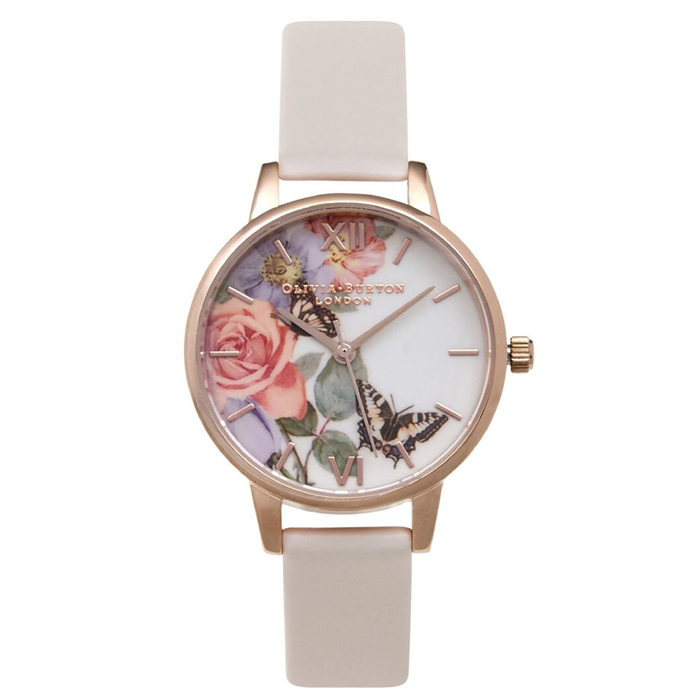 Enchanted Garden Midi Dial Watch - Blush & Rose Gold