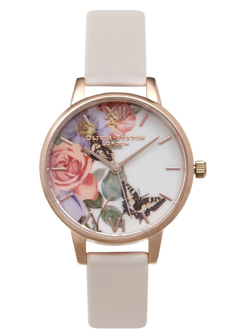 Olivia Burton Enchanted Garden Midi Dial Watch - Blush & Rose Gold main image