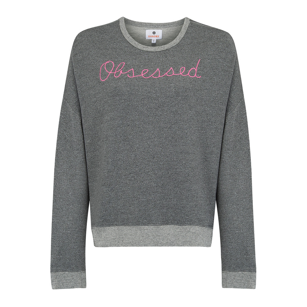 Cross Back Obsessed Sweater - Heather Grey