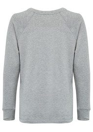 SUNDRY Open Side Pullover - Heather Grey