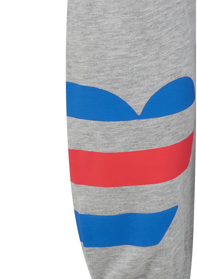 SUNDRY Striped Heart Sweatpants - Heather Grey main image