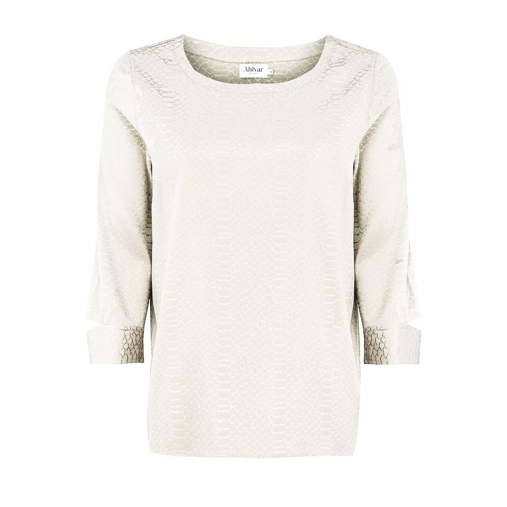 Ayumi Snake Jacquard Blouse - Off White