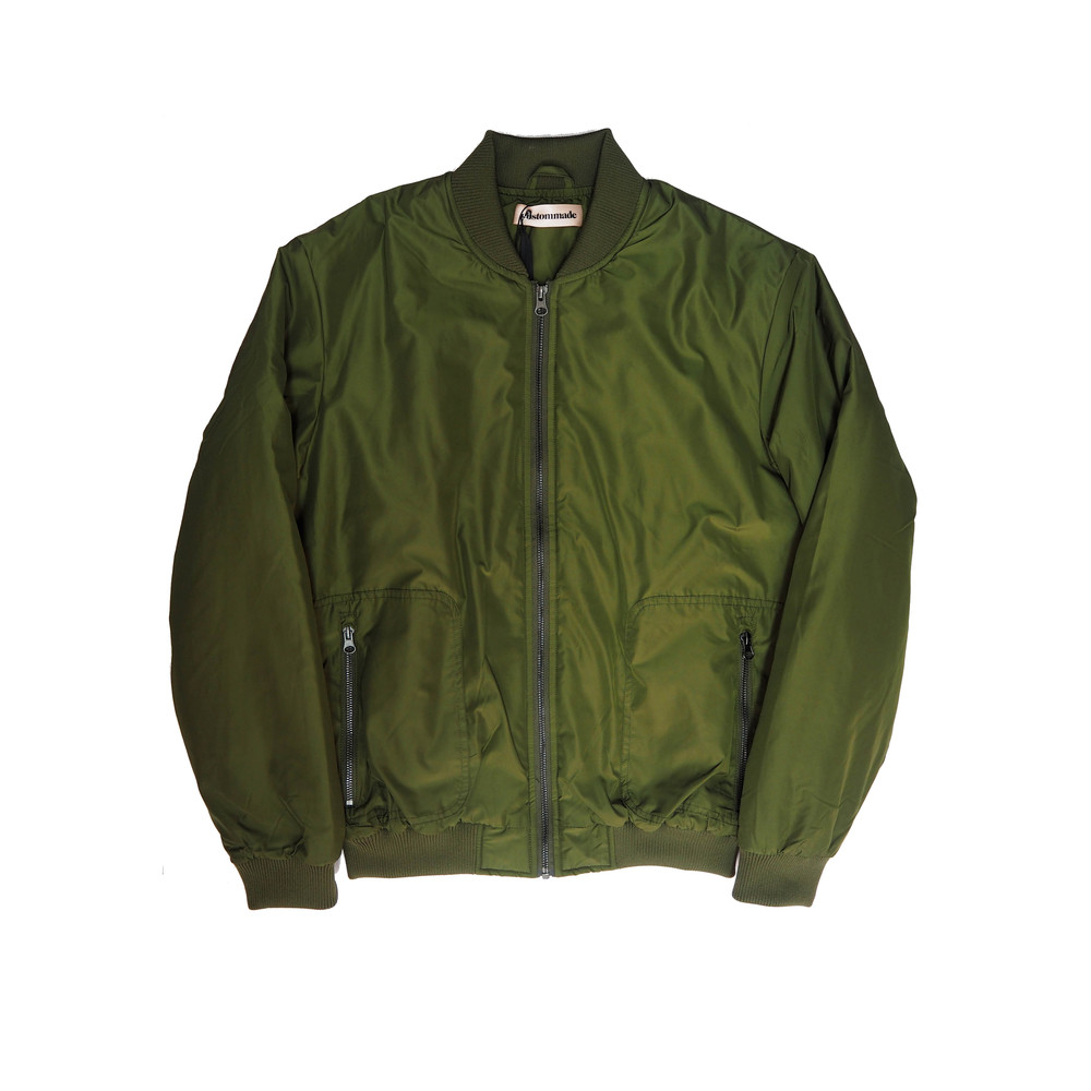 Graizella Bomber Jacket - Thyme Green