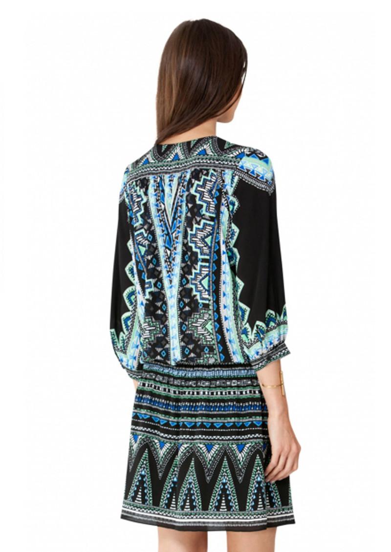 Hale Bob Ioanna Print Dress - Black main image
