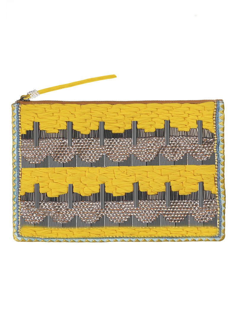 Becksondergaard Liak Clutch Bag - Bright Yellow main image