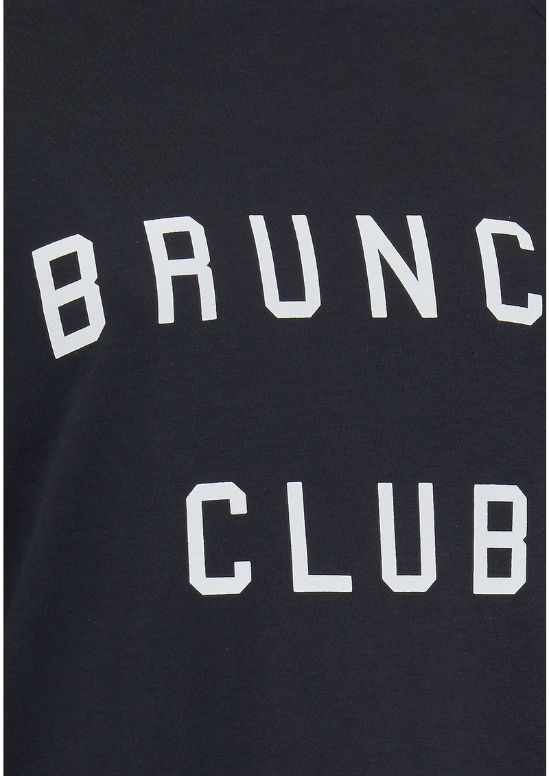 SOUTH PARADE Candy Brunch Club Jersey Top - Smoke Black main image