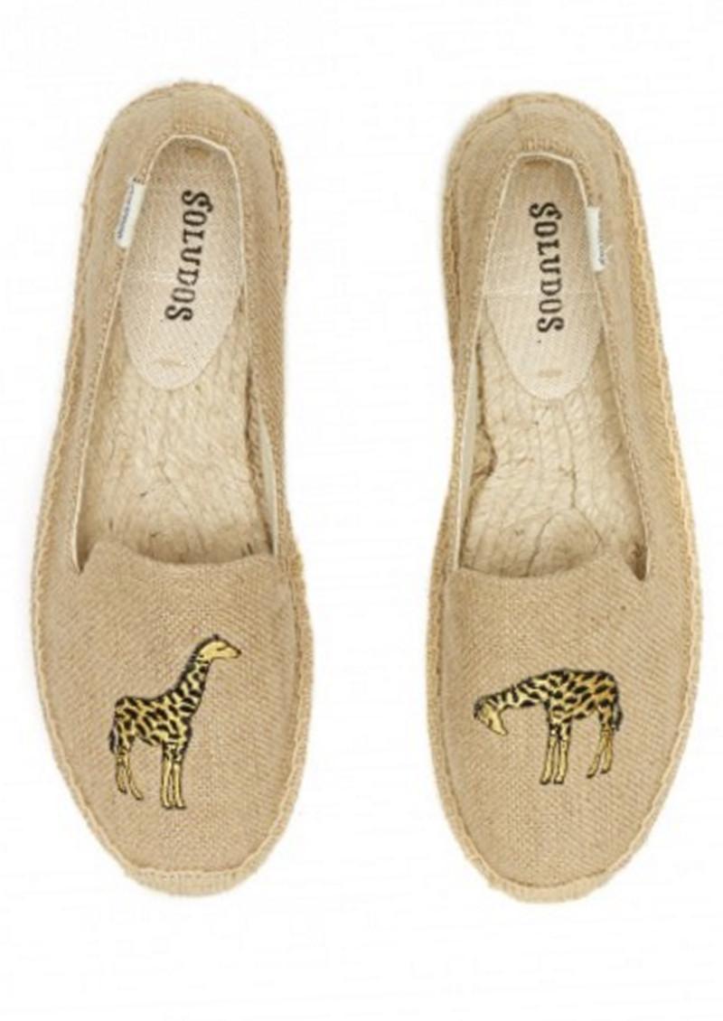 SOLUDOS Giraffe Embroidered Smoking Slipper - Natural main image