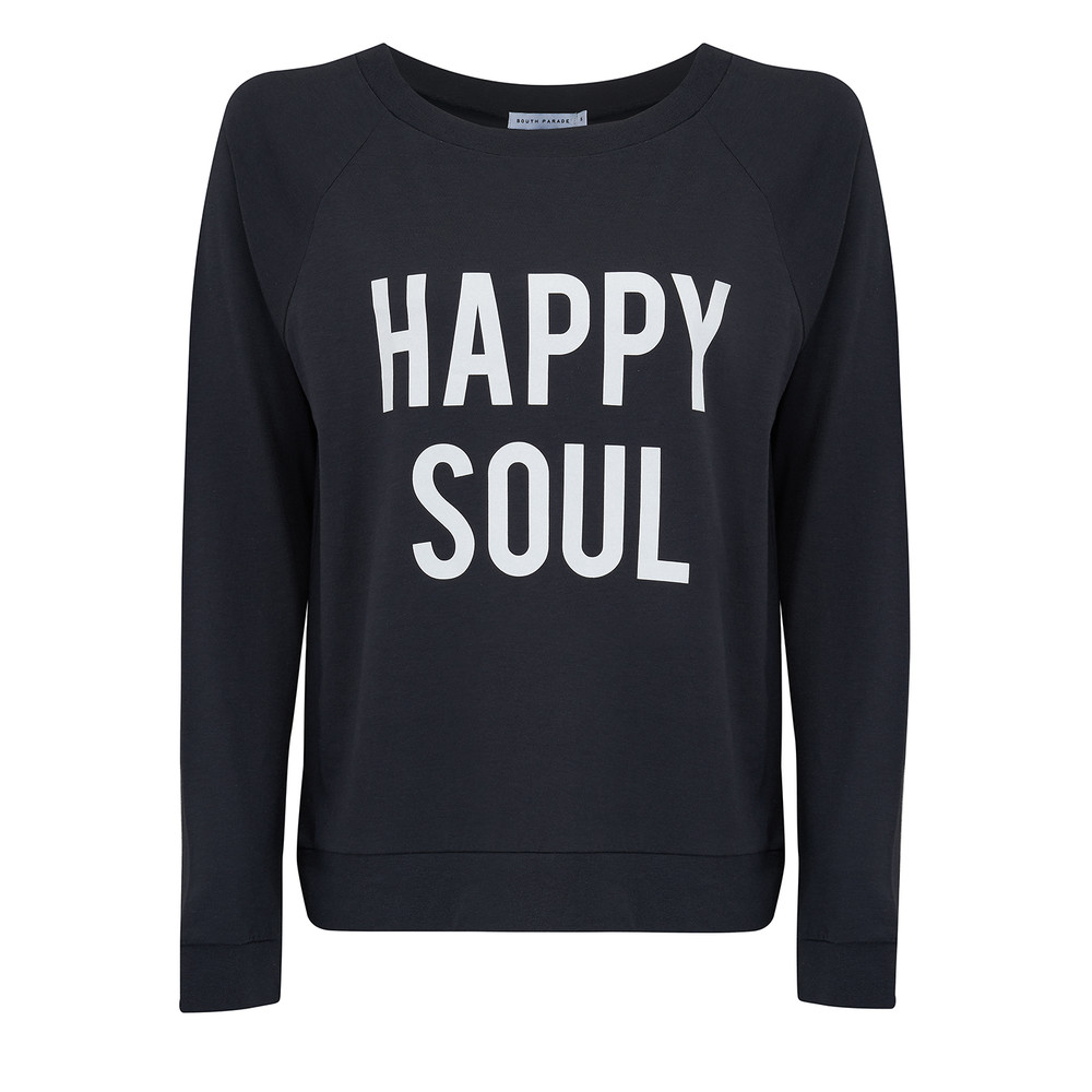 Candy Happy Soul Jersey Top - Smoke Black