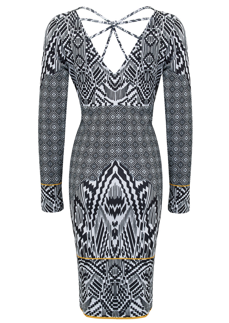 Hale Bob Permilia Starburst Dress - Black main image