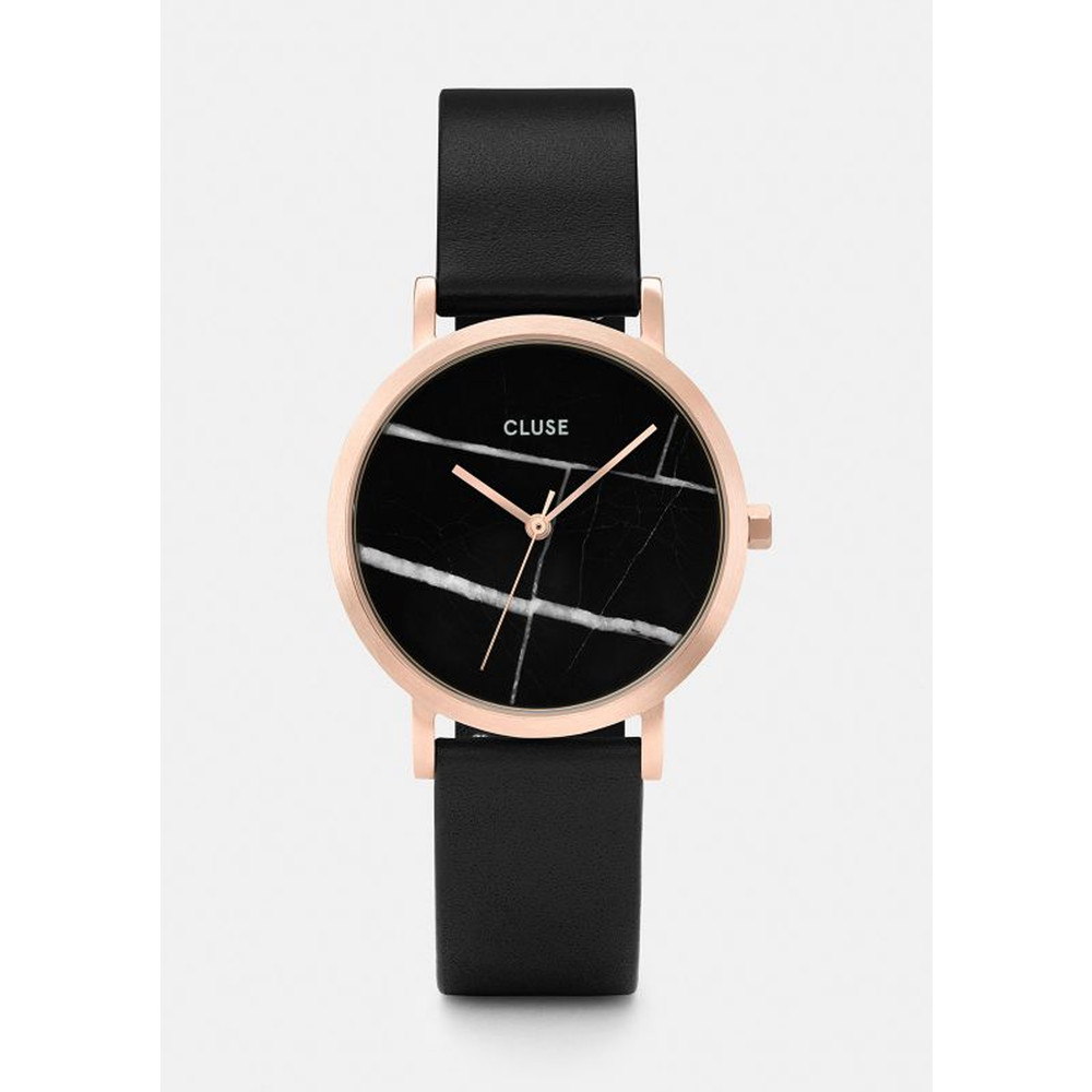 La Roche Petite Rose Gold Watch - Black & Black