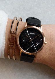 CLUSE La Roche Petite Rose Gold Watch - Black & Black
