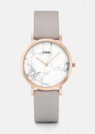 CLUSE La Roche Petite Rose Gold Watch - White & Grey
