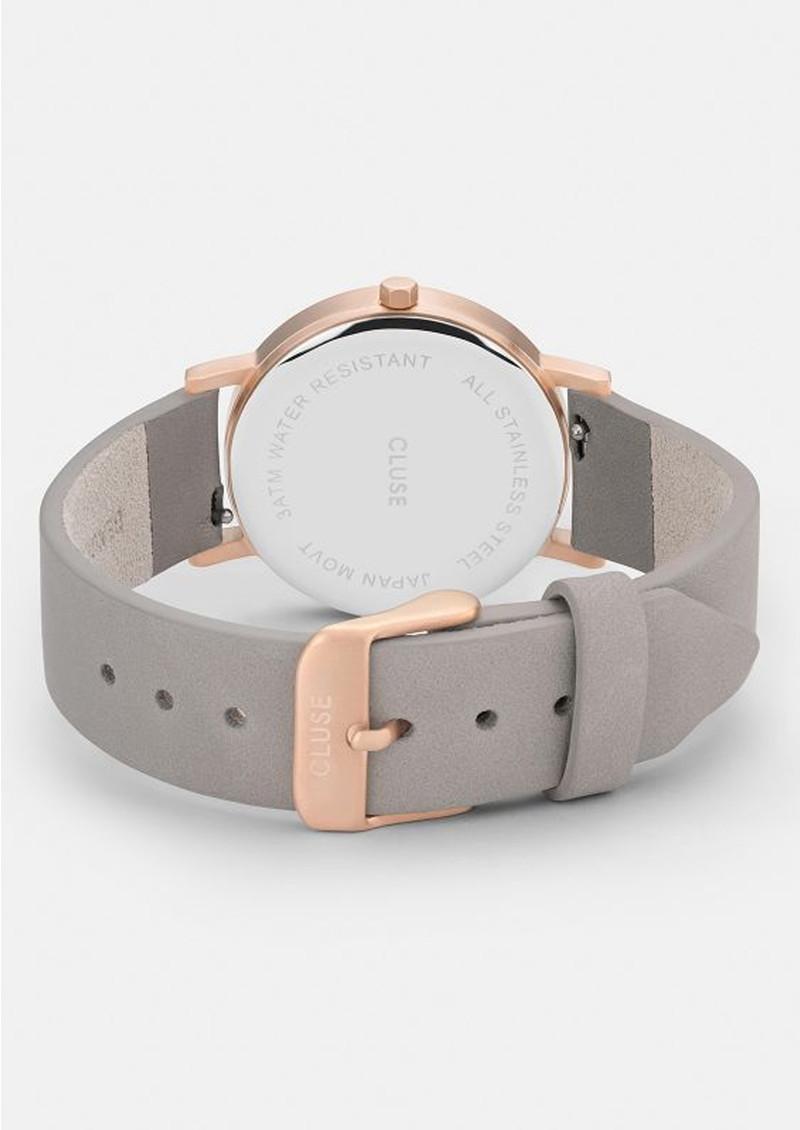 CLUSE La Roche Petite Rose Gold Watch - White & Grey main image