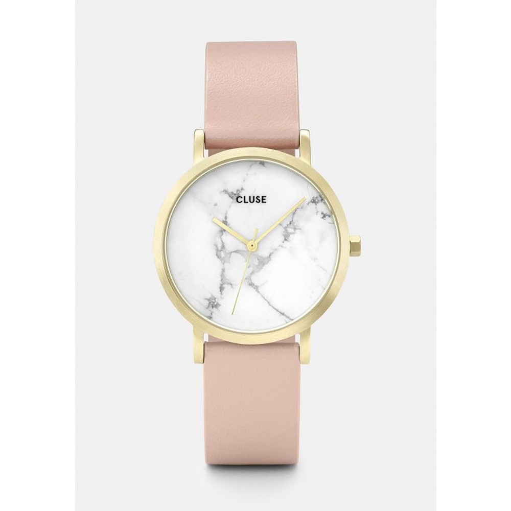 La Roche Petite Gold Watch - White & Nude