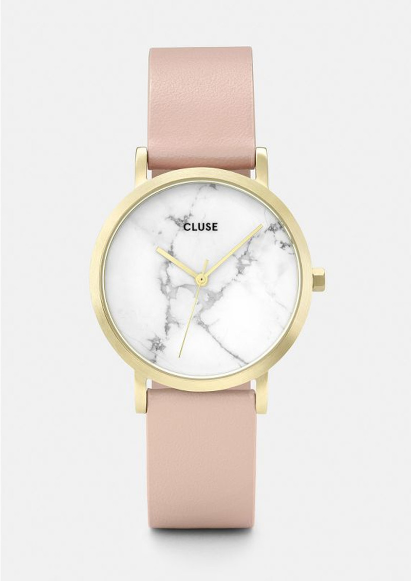 CLUSE La Roche Petite Gold Watch - White & Nude main image