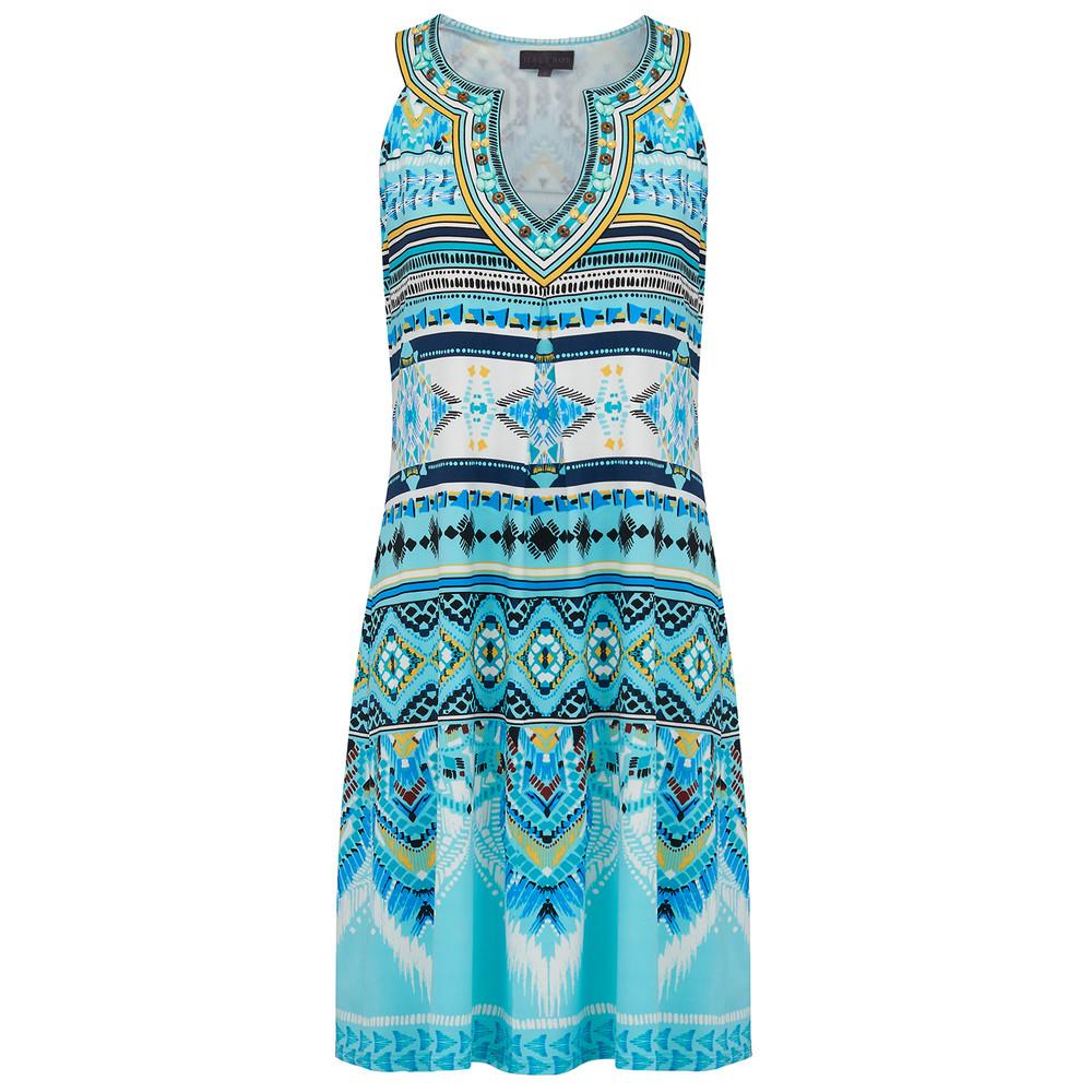 Ayako Beaded Dress - Blue