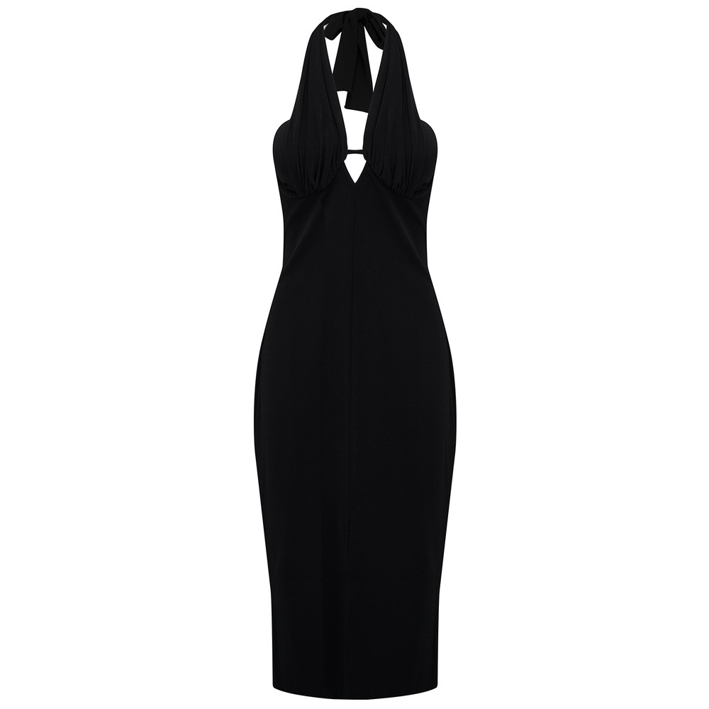 Azura Plunge Dress - Black