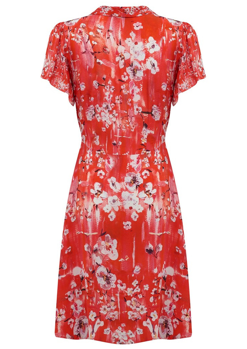 Lily and Lionel Winnie Button Down Midi Dress - Ruby Red main image