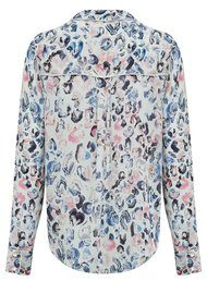 Lily and Lionel Trixie Piped Classic Shirt - Pastel Blue
