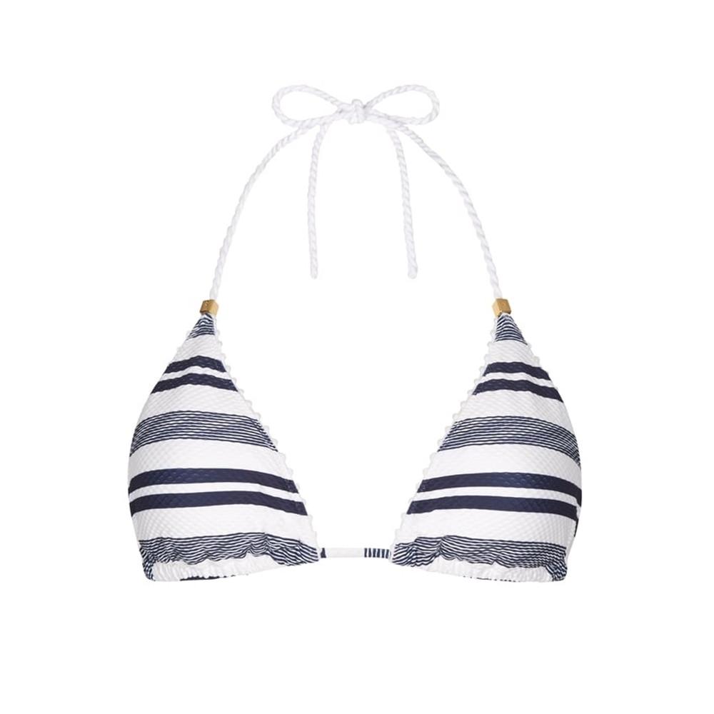 Marthas Vineyard Rope Triangle Bikini Top - Stripe