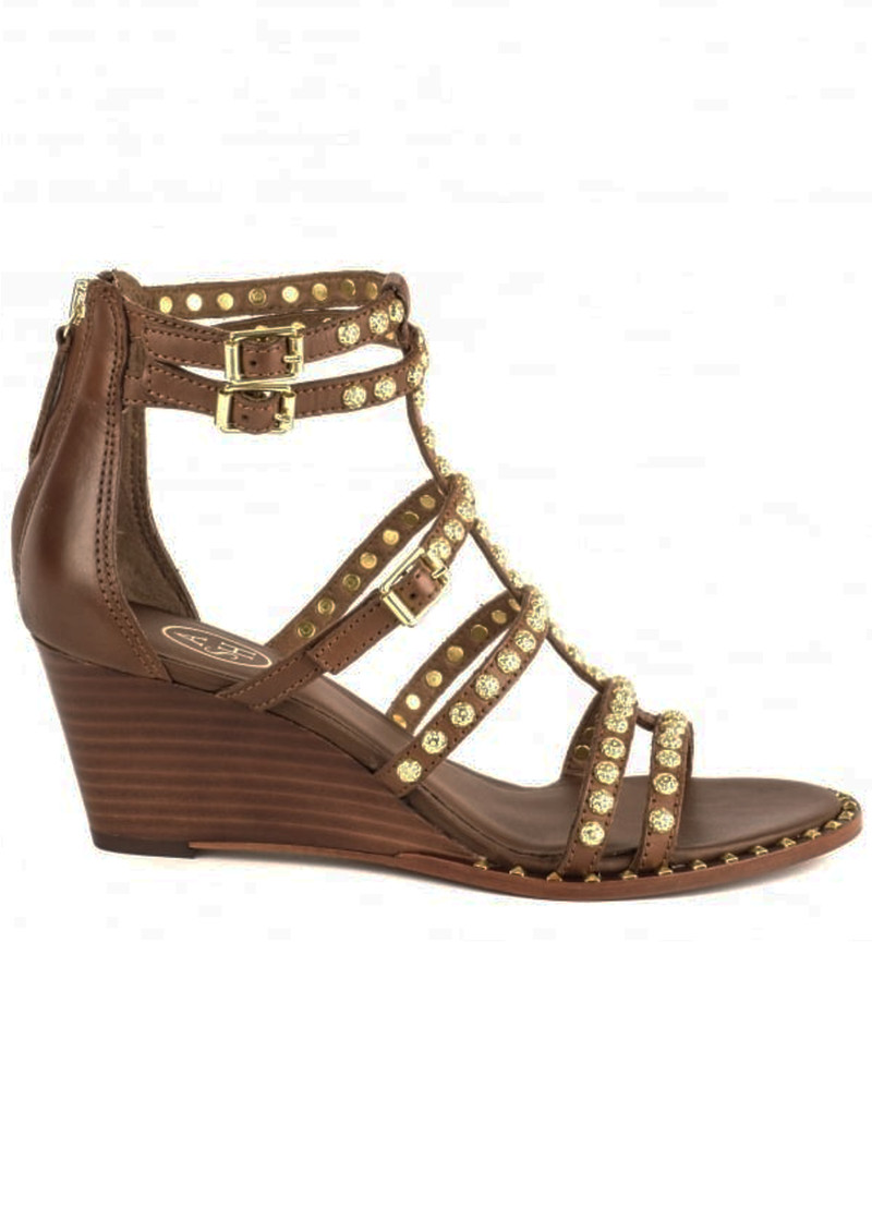Nuba Studded Sandals - Cacao main image