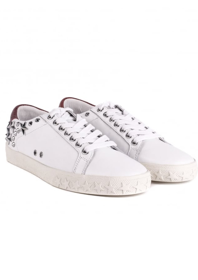 Ash Dazed Studded Trainers - White & Red main image