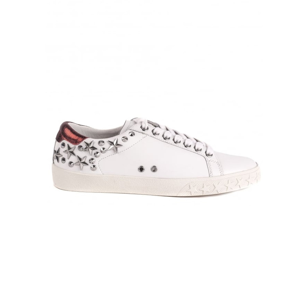 Dazed Studded Trainers - White & Red