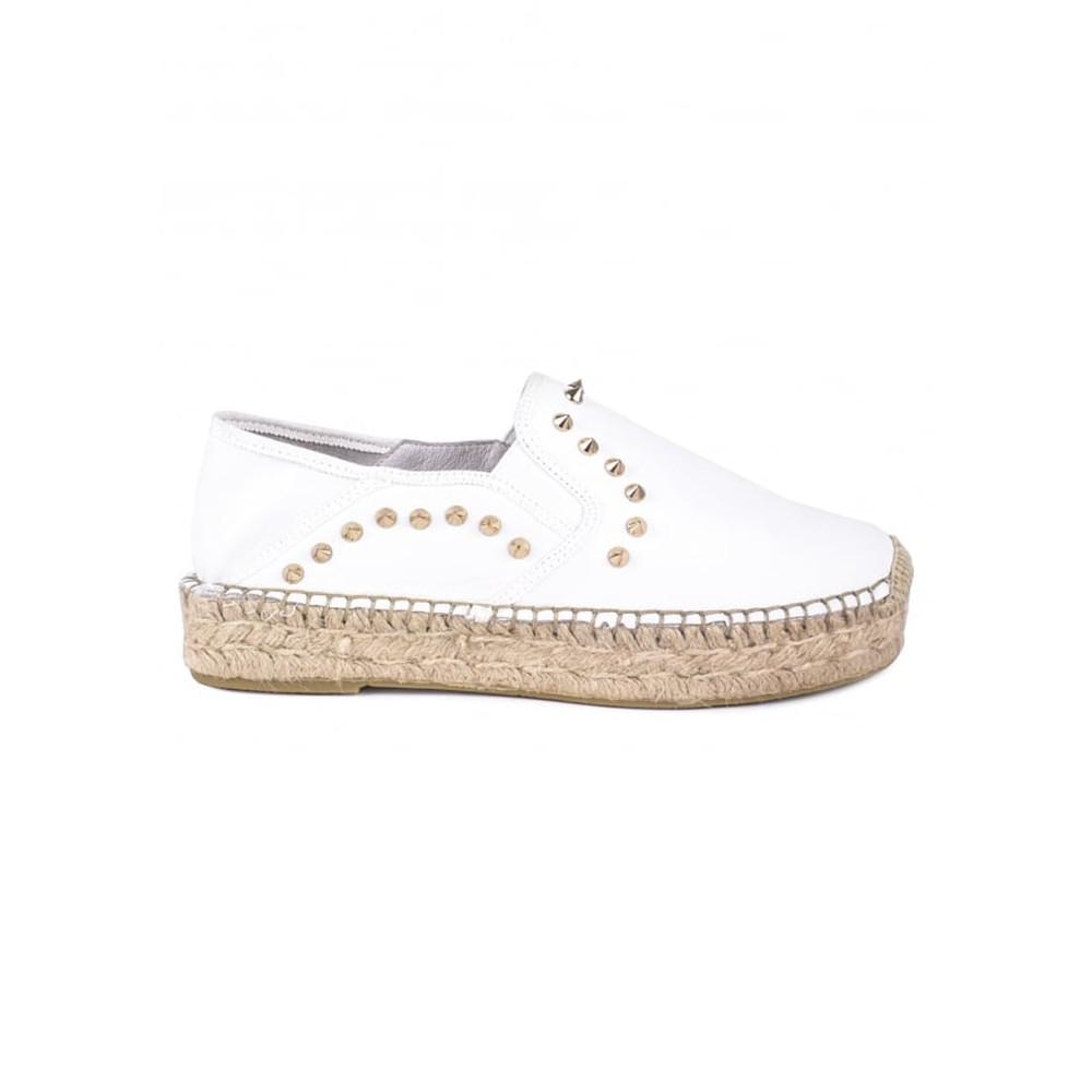 Xiao Leather Espadrilles - White
