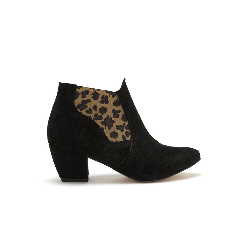 Celine Boot - Black & Leopard