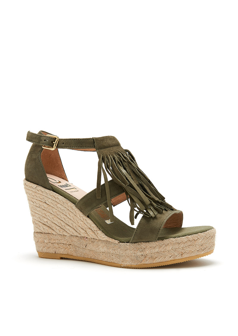 Viena Yute Wedge - Khaki main image
