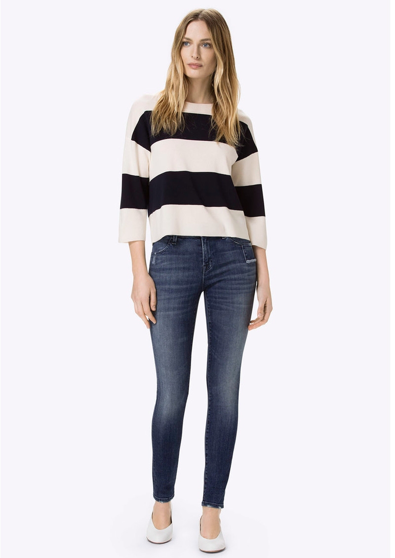 J Brand Mid Rise Super Skinny Jeans - Gone main image