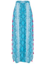 BETH AND TRACIE Jess Beach Snake Print Skirt - Ocean