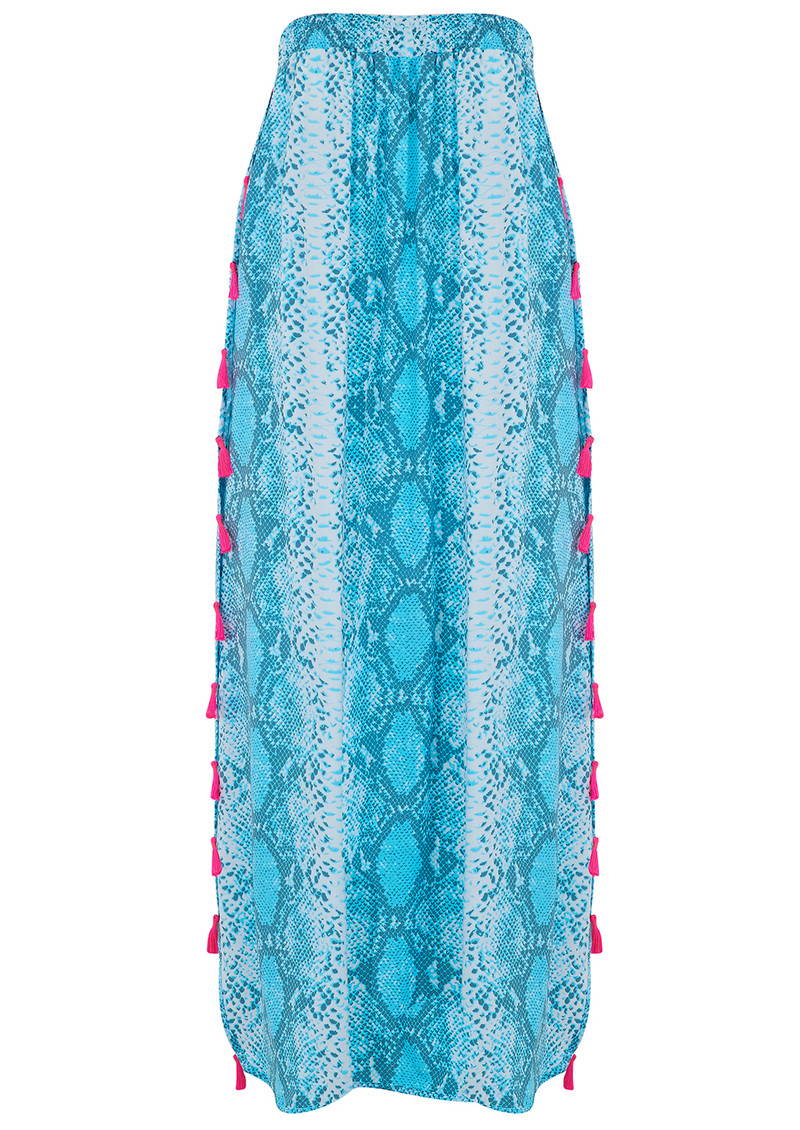 BETH AND TRACIE Jess Beach Snake Print Skirt - Ocean main image