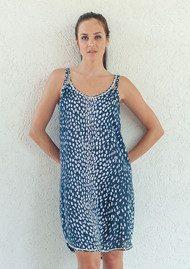 BETH AND TRACIE Kenzie Dalmatian Print Dress - French Navy