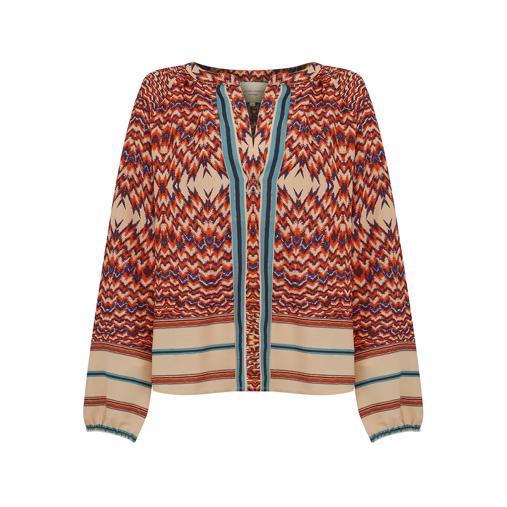Dory Blouse - Orange Multi