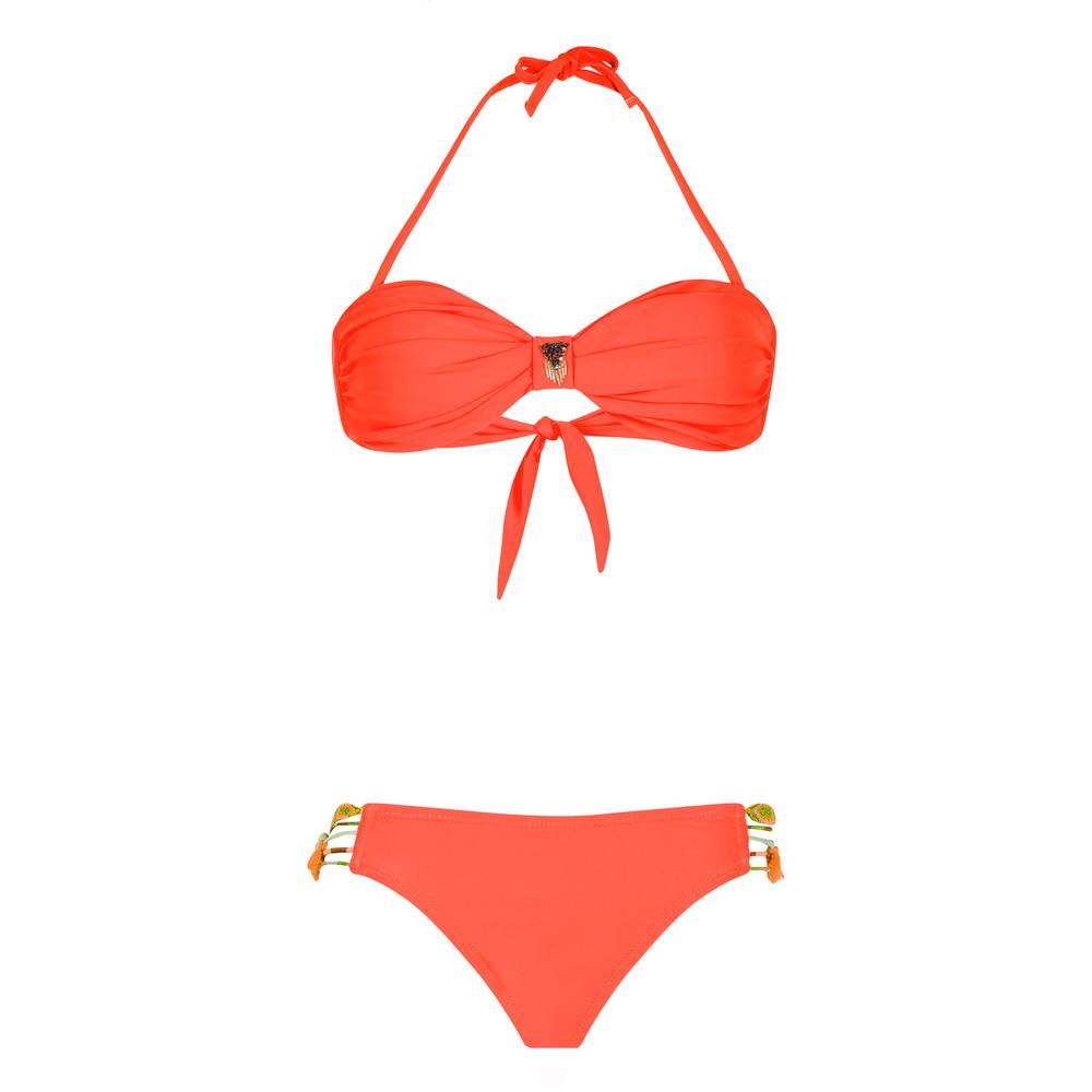 Uni Bandeau Bikini Set - Orange