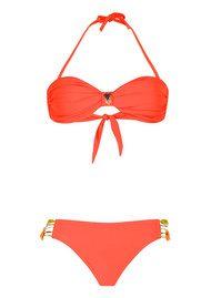 HIPANEMA Uni Bandeau Bikini Set - Orange