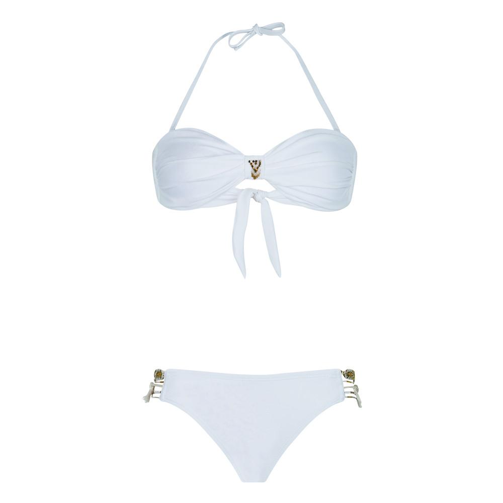 Uni Bandeau Bikini Set - White