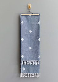 HAMMAMHAVLU Yildiz Star Towel - Indigo