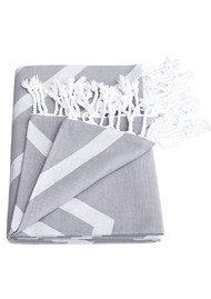 HAMMAMHAVLU Alya Exploded Star Towel - Smoke Grey