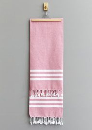 HAMMAMHAVLU Esra Three Striped Towel - Pink