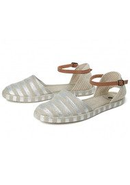 Hudson London Biarritz Canvas Espadrilles - Silver