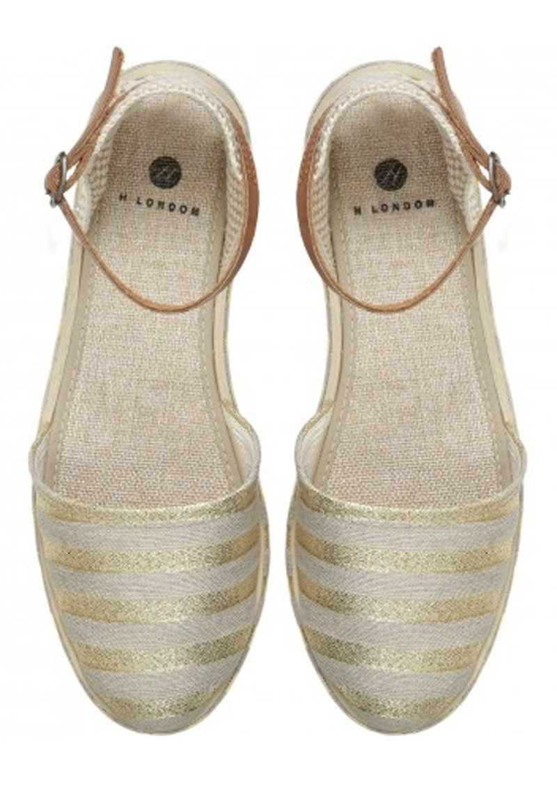 Hudson London Biarritz Canvas Espadrilles - Gold main image