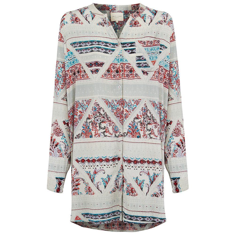 Lenora Shirt Dress - White Multi