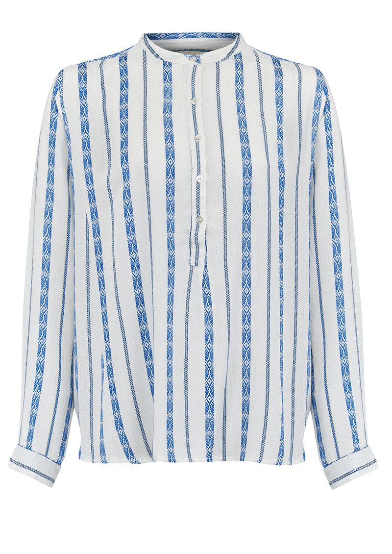 Lollys Laundry Lux Jaquard Shirt - Blue main image